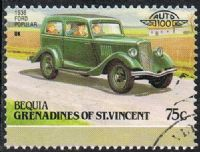 Bequia 1987 Automobiles (7th series) 75c type 2 good/fine used